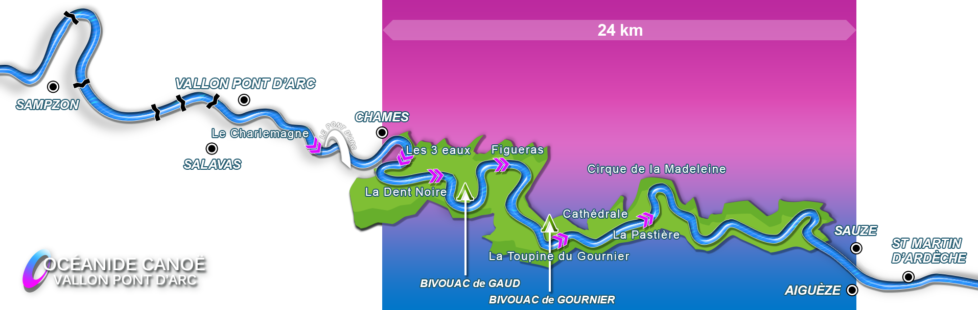 Descent map 24 km